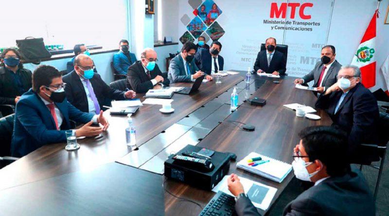 MTC lideró reunión multisectorial para encontrar solución a la problemática del sector Transportes
